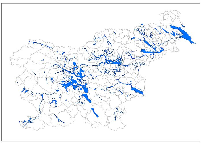 Območja veljavnosti rezultatov integralnih kart poplav, 9. september 2021