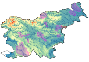 Karta 14 območij poplavljanja, hidrološko-hidravličnega modeliranja