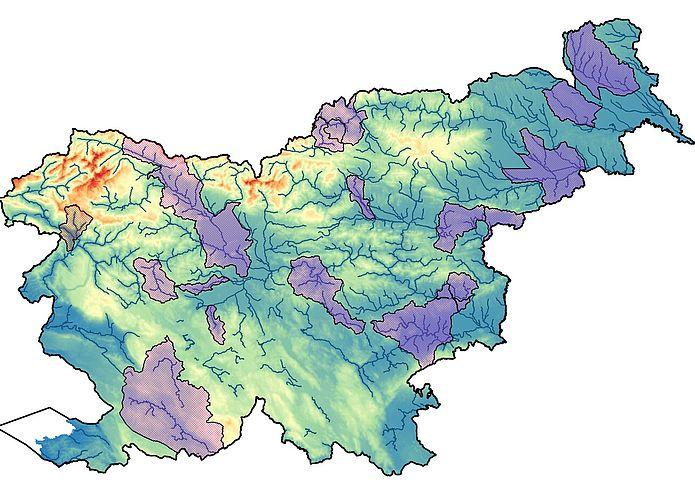 karta za območja poplavljanja s Tolminko in Sočo